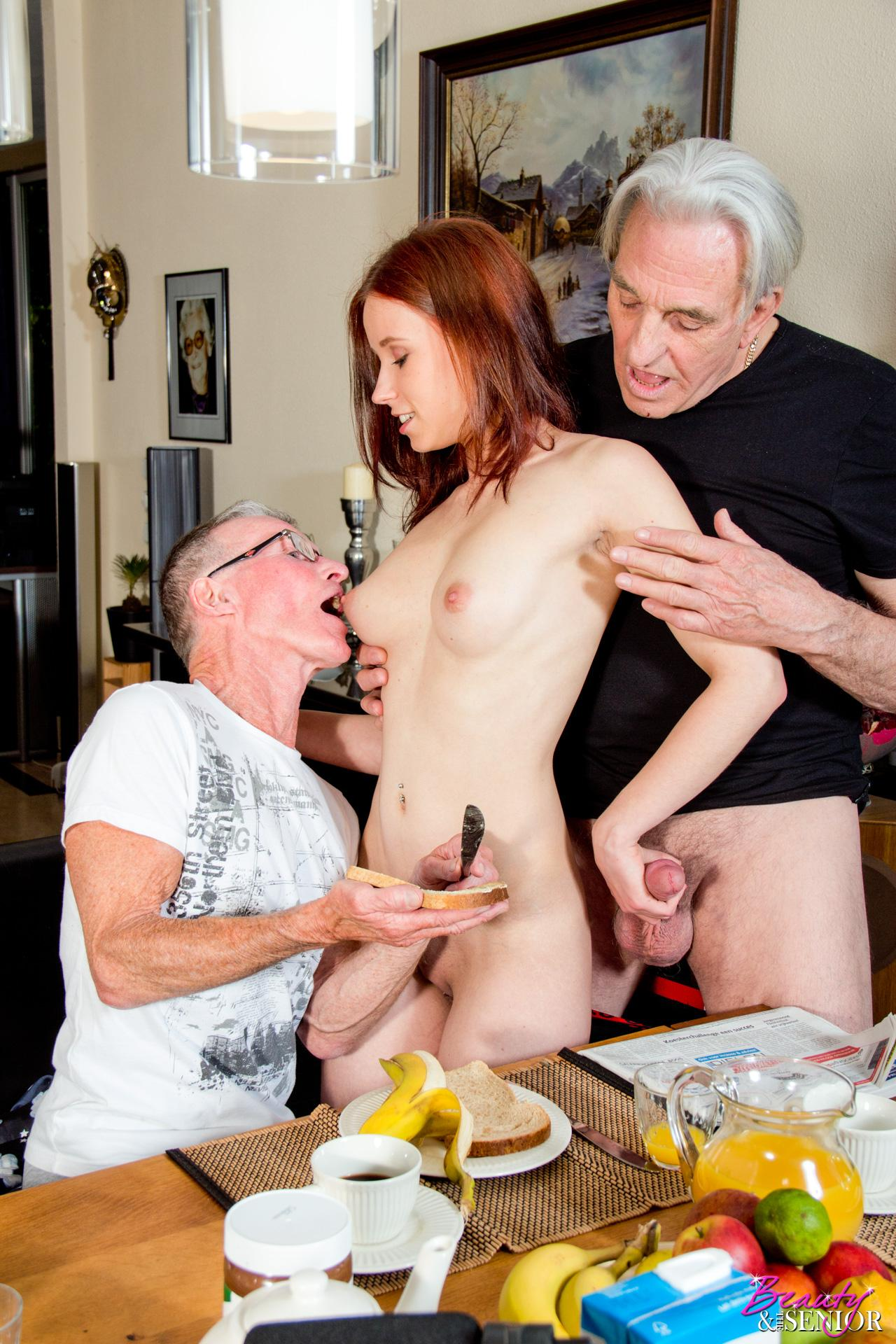 Tiny Amateur Brunette Convinced By Older Agent To Fuck In Public